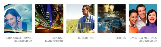 CORPORATE TRAVEL MANAGEMENT,EXPENSE MANAGEMENT,CONSULTING,SPORTS,EVENT&MEETINGS MANAGEMENT